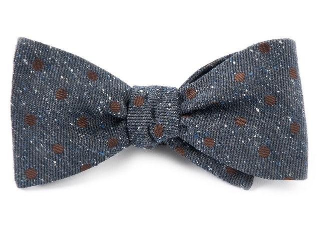 Revolve Dots Deep Serene Blue Bow Tie