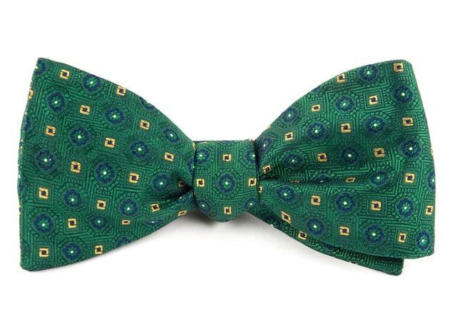 Midtown Medallions Hunter Green Bow Tie