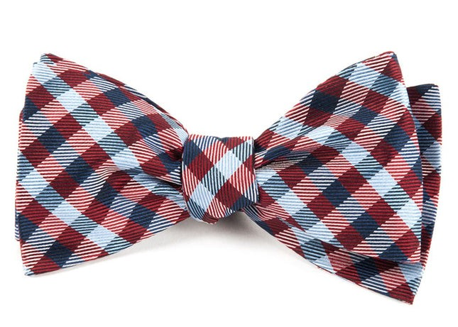 Polo Plaid Red Bow Tie