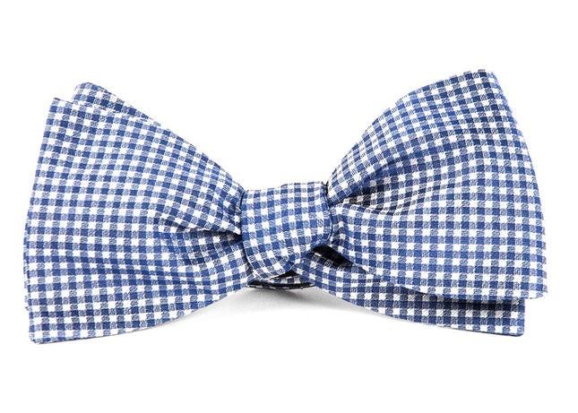 Bahama Checks Classic Blue Bow Tie
