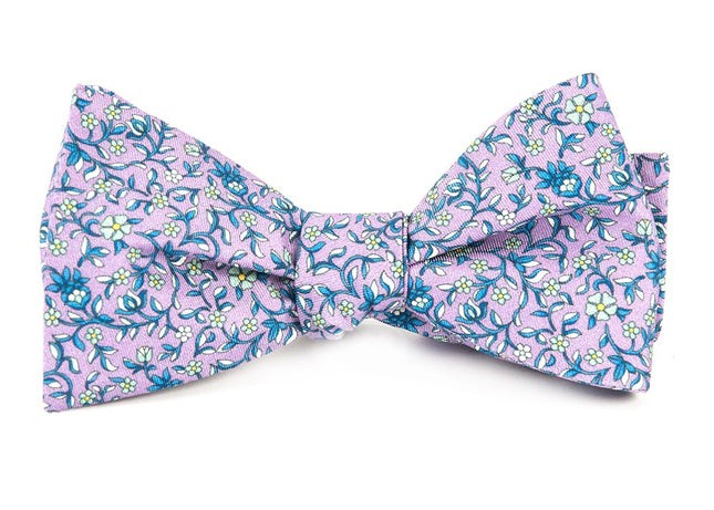 Peninsula Floral Lilac Bow Tie