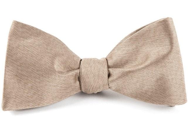 Melange Twist Solid Champagne Bow Tie