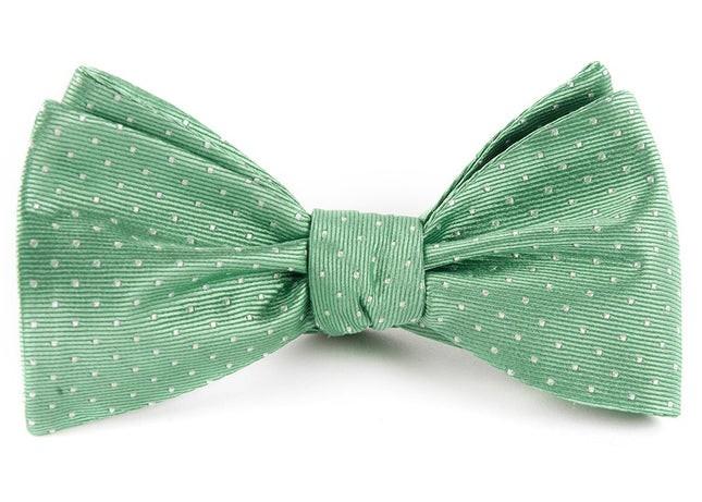 Mini Dots Mint Bow Tie