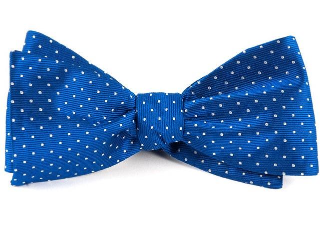 Mini Dots Royal Blue Bow Tie
