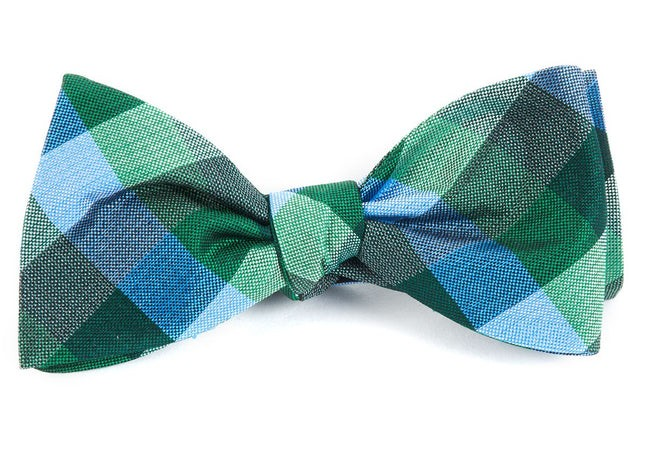 Pitch Plaid Kelly Green Bow Tie