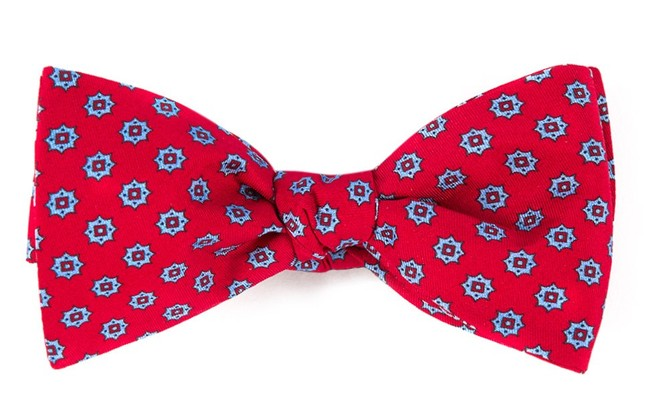 Major Star Apple Red Bow Tie