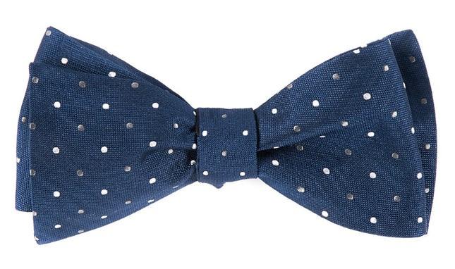 Jpl Dots Navy Bow Tie