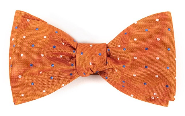 Jpl Dots Orange Bow Tie