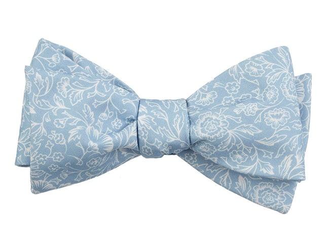 Bracken Blossom Sky Blue Bow Tie