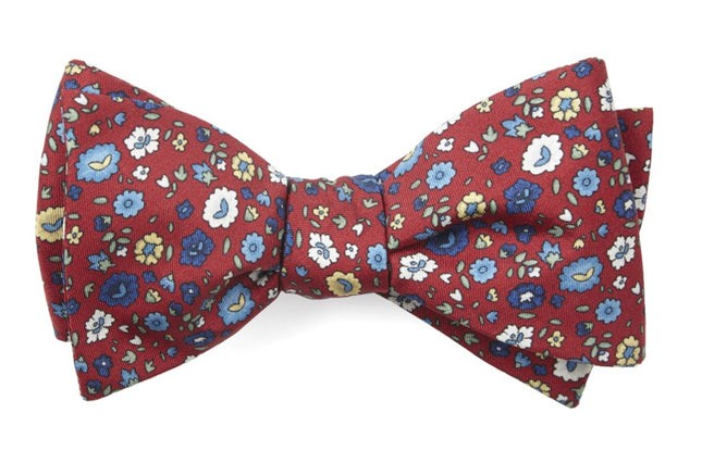 Morrissey Flowers Red Bow Tie