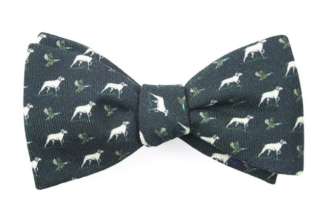 Boldrewood Chase Army Green Bow Tie