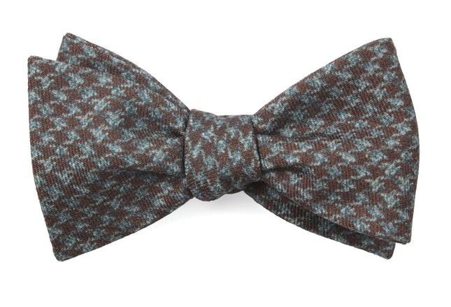 Woolf Houndstooth Cognac Bow Tie