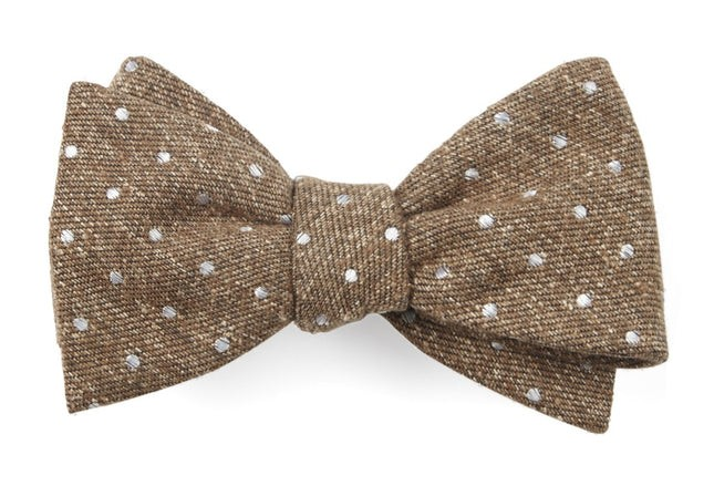 Knotted Dots Brown Bow Tie