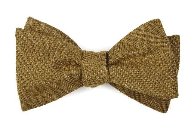 Threaded Zig-Zag Mustard Bow Tie