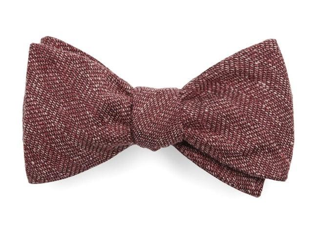 Threaded Zig-Zag Light Raspberry Bow Tie
