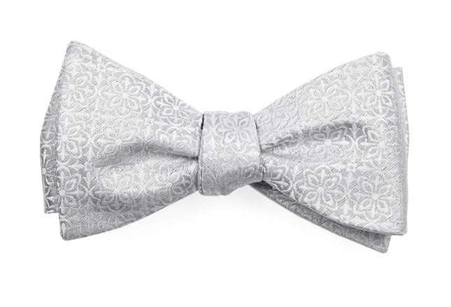 Opulent Light Silver Bow Tie