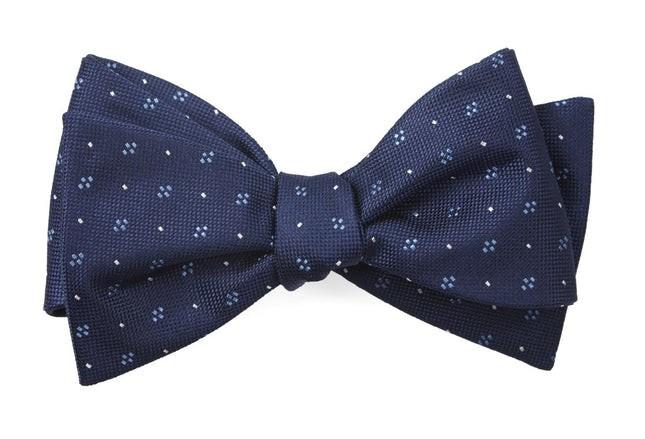 Geo Key Navy Bow Tie