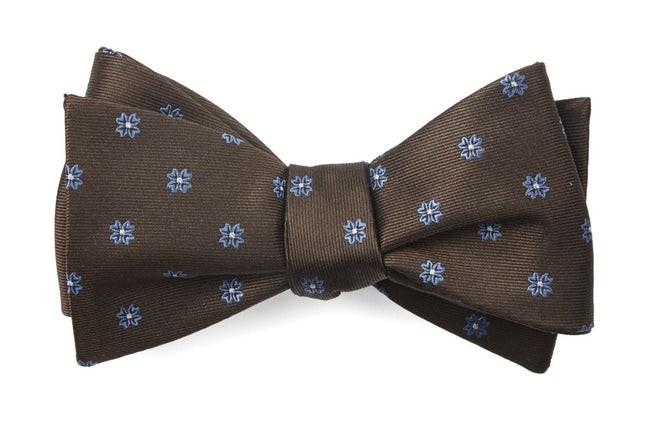 Floral Span Chocolate Brown Bow Tie
