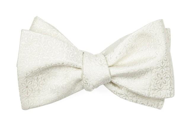 Opulent Ivory Bow Tie