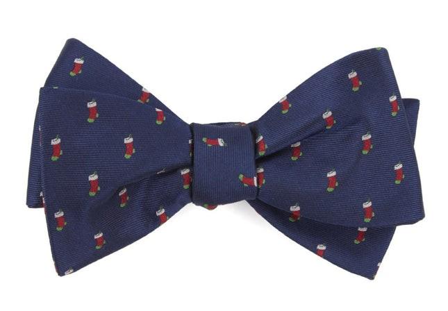 Fully Stocked Navy Bow Tie
