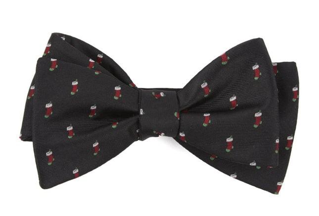Fully Stocked Black Bow Tie