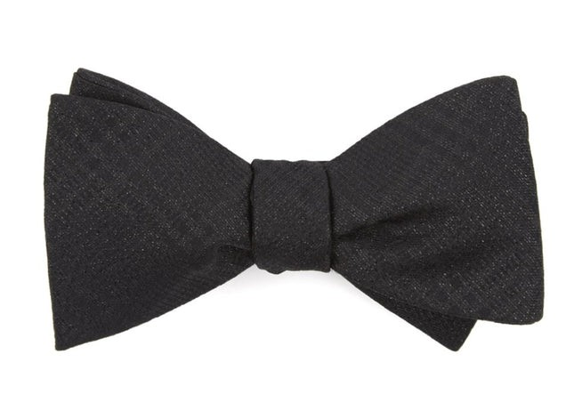 Jazz Plaid Black Bow Tie