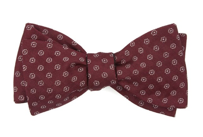 Eagle Eye Medallion Burgundy Bow Tie