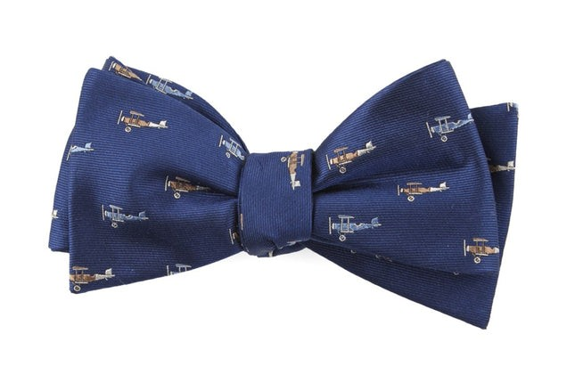 Airplane Fleet Navy Bow Tie
