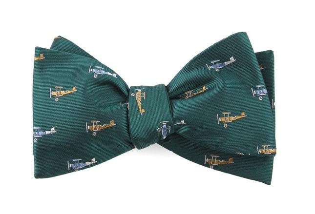 Airplane Fleet Hunter Green Bow Tie