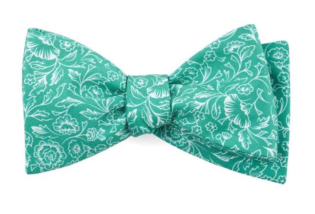 Bracken Blossom Kelly Green Bow Tie