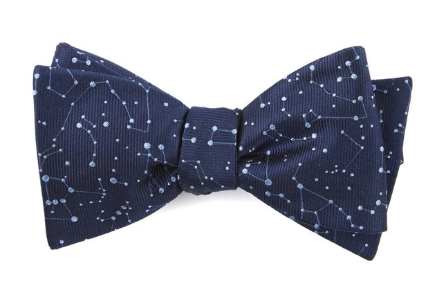 Constellation Space Navy Bow Tie