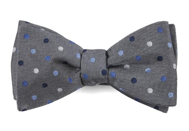 Spree Dots Grey Bow Tie