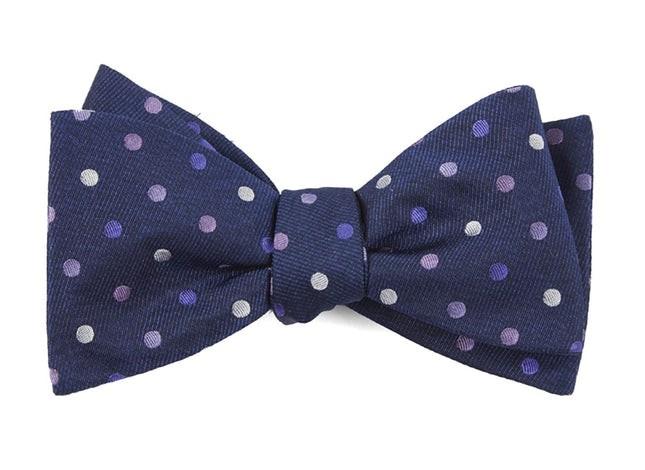 Spree Dots Purples Bow Tie