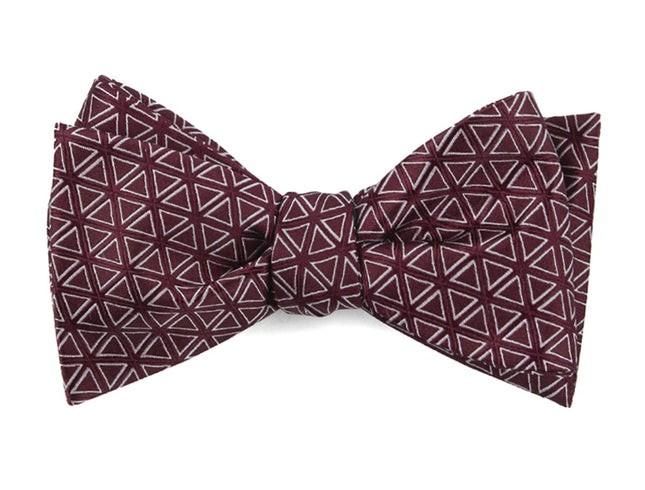 Triad Burgundy Bow Tie