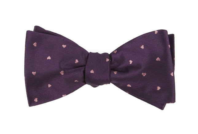 Heart To Heart Plum Bow Tie