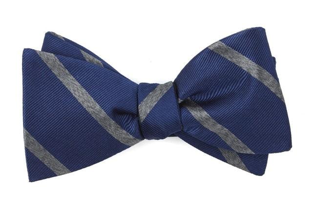 Wheelhouse Stripe Navy Bow Tie