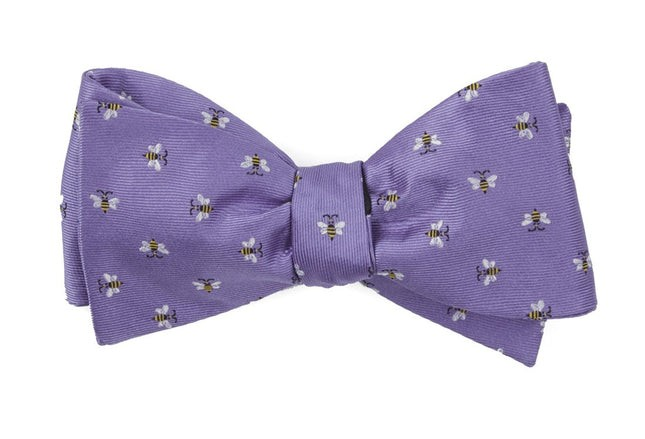 Reeds Bees Lavender Bow Tie