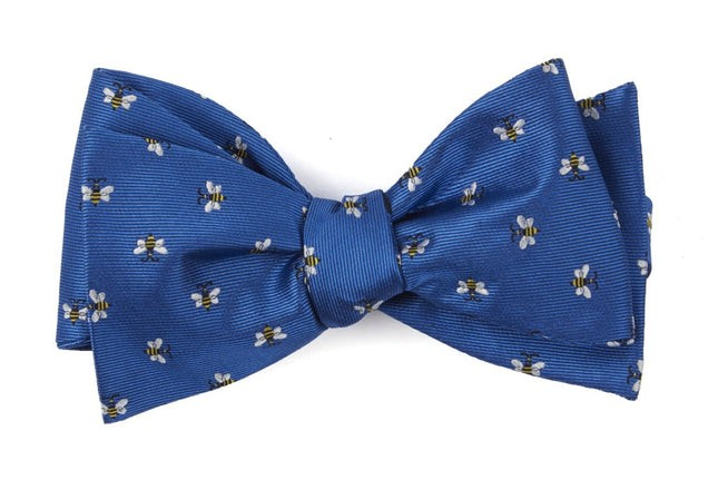 Reeds Bees Royal Blue Bow Tie