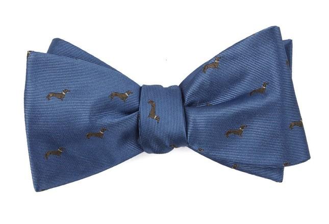 Dog Days Slate Blue Bow Tie
