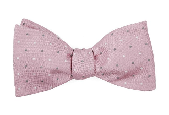 Jpl Dots Baby Pink Bow Tie