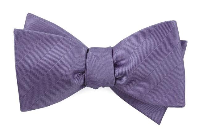 Herringbone Vow Lavender Bow Tie