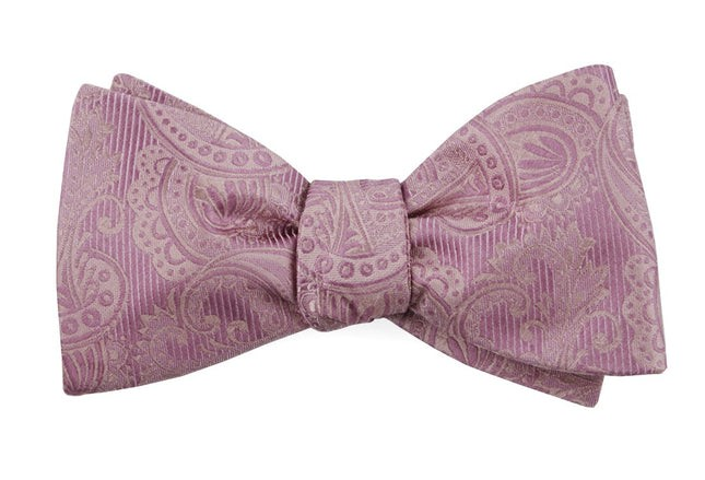 Twill Paisley Dusty Rose Bow Tie