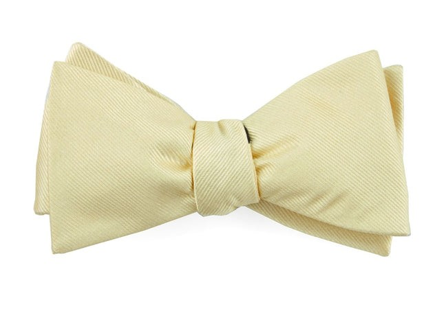 Grosgrain Solid Butter Bow Tie