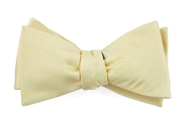 Grosgrain Solid Butter Bow Tie