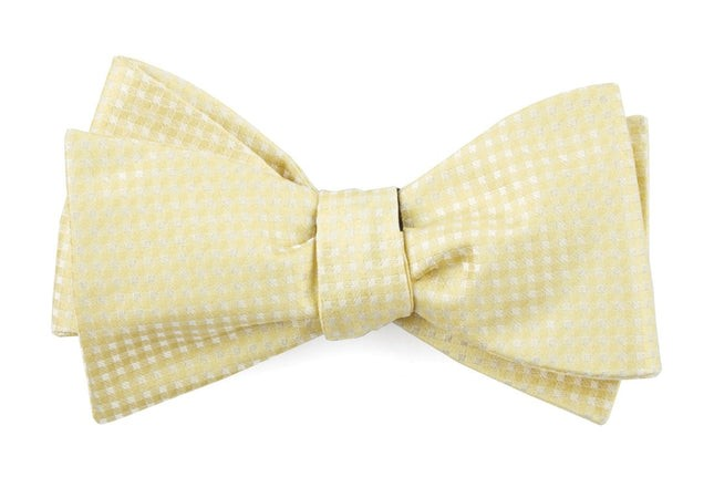 Be Married Checks Butter Bow Tie