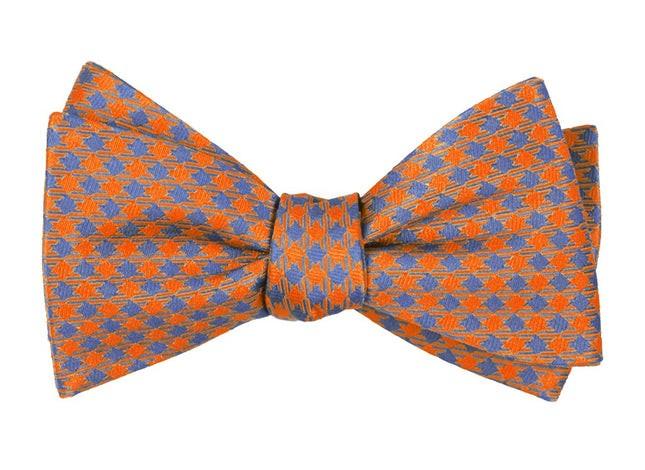 Commix Checks Tangerine Bow Tie