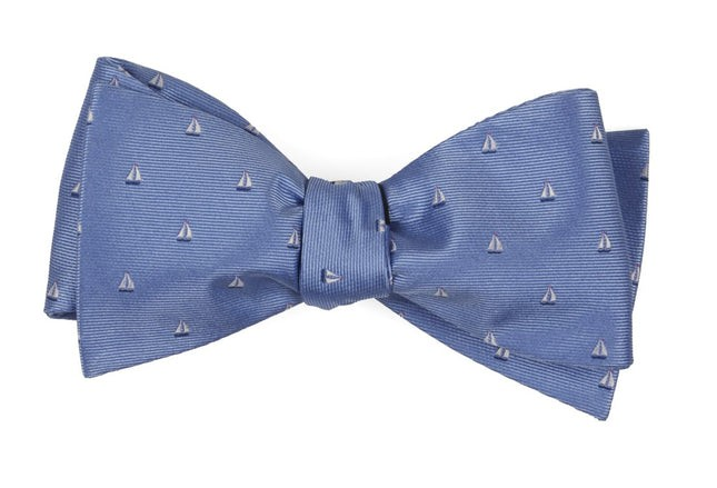 Sailboat Sprint Light Blue Bow Tie
