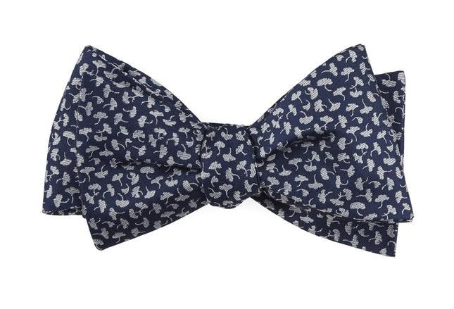 True Floral Navy Bow Tie