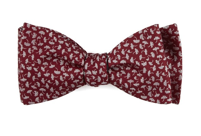 True Floral Red Bow Tie