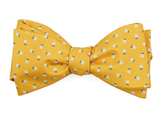 Wonder Floral Yellow Gold Bow Tie